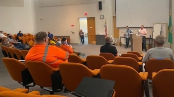 The emergency preparedness team at the EM Hanford Waste Treatment and Immobilization Plant held its first Hazardous Facility Emergency Response Organization tabletop drill recently.