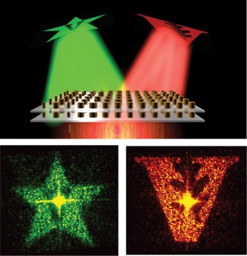 A novel approach to designing artificial materials achieves greater control over light than conventional materials. The materials were demonstrated using holograms projected at independent wavelengths to showcase multiwavelength performance potential.