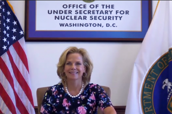 NNSA Administrator Lisa E. Gordon-Hagerty was the keynote speaker at the annual meeting of the Institute of Nuclear Materials Management, which was entirely virtual this year.