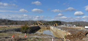 A view of the former K-832 Basin at Oak Ridge before workers removed it.