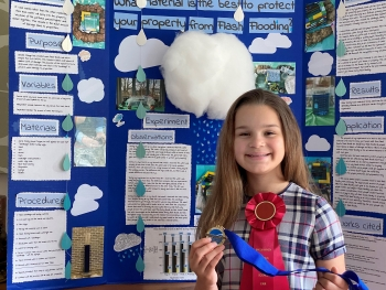 A student participant in the Brookhaven National Laboratory Science Fair in 2020