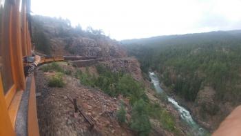 A view from the Durango & Silverton Narrow Gauge Railroad.