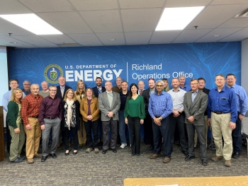 The Spent Nuclear Fuel Working Group, which includes representatives from DOE programs and sites that manage SNF, met in November 2019 at the Richland Operations Office to discuss SNF challenges.