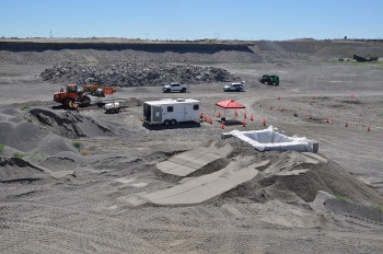 The EM Richland Operations Office and its contractor CH2M HILL Plateau Remediation Company are building an off-site mock-up of a conveyance system that will be used to move engineered grout from trucks into three at-risk underground structures.
