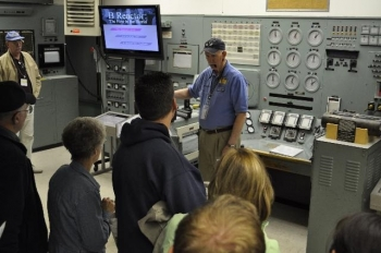 The control room of the B Reactor gives visitors to this national historic landmark a glimpse of what it was like to work inside the world's first full-scale plutonium production reactor.