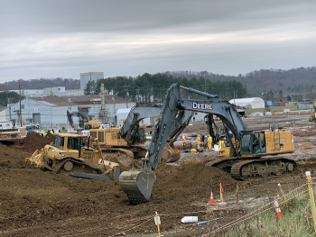 Workers have completed an excavation of contaminated soil from the K-25 footprint, removing more than 90,000 cubic yards of soil.