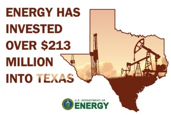Energy investment in Texas infographic
