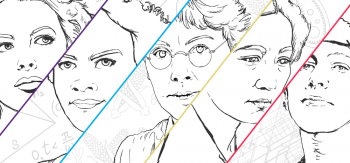 Women in STEM Coloring Book Cover Image
