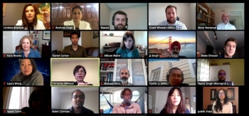 Images of attendees of a virtual meeting: Glimpses from the IMPEL+ Virtual Workshop, June 2020.