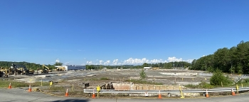 A view of the Centrifuge Complex area after demolition was completed at the end of July 2020. Completion of this project brings EM significantly closer to completing its cleanup goal at the East Tennessee Technology Park, an EM 2020 priority.
