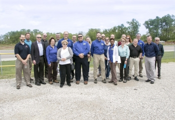 Attendees of the St. Louis Area FUSRAP Tour at the St. Louis Airport Site on May 8, 2019.
