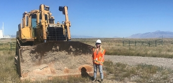 Alexis Plum, an environmental sciences major at the University of Idaho, is interning onsite at Fluor Idaho this summer.