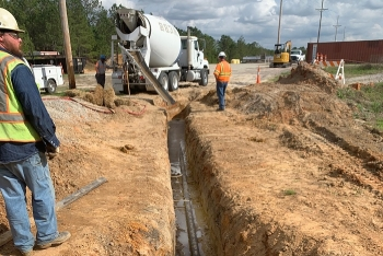 The Savannah River Nuclear Solutions site services division managed the safe and successful construction of a second water line to support the Salt Waste Processing Facility at the Savannah River Site.