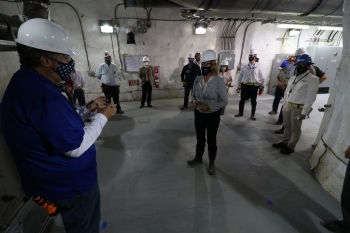 While hundreds of feet underground in the U1a complex at the Nevada National Security Site, NNSA Administrator Lisa E. Gordon-Hagerty is briefed on U1a's current status.