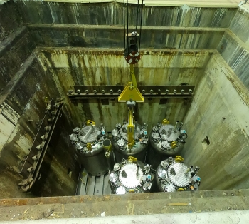 Hanford Employees Conduct Weigh-ins to Ensure Sludge is Safely Maintained