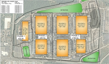 A rendering of how the proposed Banister Site complex will look when completed.