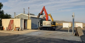 – EM crews recently took down the eighth of 10 buildings set for demolition at the Radioactive Materials Handling Facility