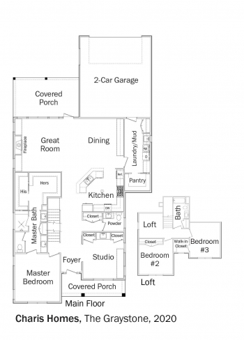 Floorplans for DOE Tour of Zero: The Graystone by Charis Homes.