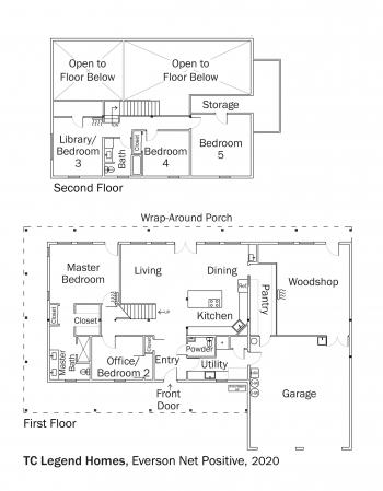 Floorplans for DOE Tour of Zero: Everson Net Positive by TC Legend Homes.