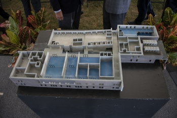 A 3-D model of the proposed Advanced Manufacturing Collaborative facility to be built at the University of South Carolina-Aiken.