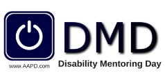 Disability Mentoring Day logo with web address www.AAPD.com