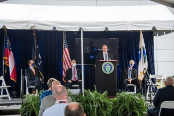The Salt Waste Processing Facility (SWPF) is the final piece of an impressive and highly successful liquid waste program at the Savannah River Site, said Under Secretary for Science Paul Dabbar, the keynote speaker at the Sept. 24 ceremony.