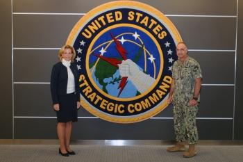 NNSA Administrator Lisa E. Gordon-Hagerty and the leader of U.S. Strategic Command, Adm. Charles Richard.