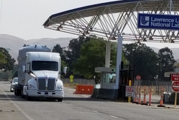 The first TRU waste shipment in years leaves Lawrence Livermore National Laboratory.