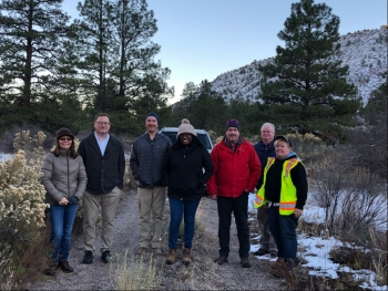 Castillo visits LM's Bayo Canyon, New Mexico, Site with colleagues from DOE Office of Environmental Management, LM Strategic Partner, and local officials.