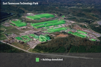 After a decades-long effort, EM has completed demolition of all buildings at Oak Ridge's East Tennessee Technology Park, removing hundreds of deteriorating, contaminated structures that spanned 13 million square feet.