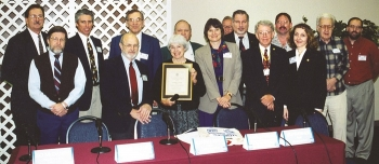 The End Use Working Group in 1998. Some members of the group served on the ORSSAB and were instrumental in writing documents and suggestions for long-term stewardship that attracted national attention and remain a guide for modern cleanup.