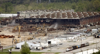 The most challenging demolition project at the East Tennessee Technology Park was the K-25 Building. Crews safely took down the mile-long former uranium enrichment building over a five-year period.