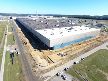 EM continues progress toward its key priority to begin demolition at the Portsmouth Site's X-326 Process Building, pictured here.