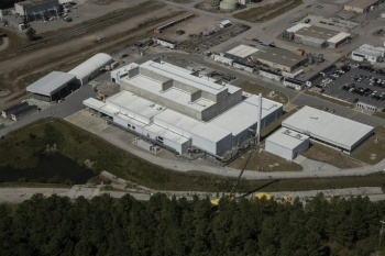 An aerial view of the Salt Waste Processing Facility at the Savannah River Site.