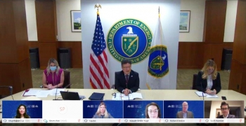 Dr. Brent Park, NNSA's Deputy Administrator for Defense Nuclear Nonproliferation, joined by NNSA nonproliferation staff, held the MOU-signing event with Canada virtually.