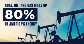 Coal, Oil, and Gas make up 80% of America's energy.