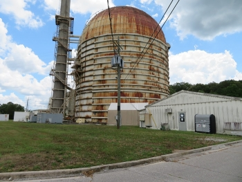 A view of the Experimental Gas-Cooled Reactor at Oak Ridge National Laboratory. The Oak Ridge Office of Environmental Management and cleanup contractor UCOR are set to fully deactivate the facility for eventual demolition.