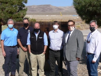 DOE and National Nuclear Security Administration (NNSA) officials commemorate the successful transfer of 70 remediated sites on and around Nevada's historic Tonopah Test Range.