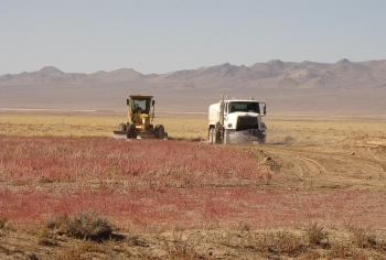 Revegetation activities at the Tonopah Test Range.