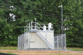 Consolidated Analytical Systems, a subcontractor to Fluor-BWXT Portsmouth, the Portsmouth Site's deactivation and decommissioning contractor, fabricated the new air monitoring stations, including air monitoring equipment, and shelters for the equipment.