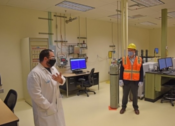 The laboratory will analyze approximately 3,000 samples a year to ensure low-activity tank waste immobilized in glass meets disposal requirements.