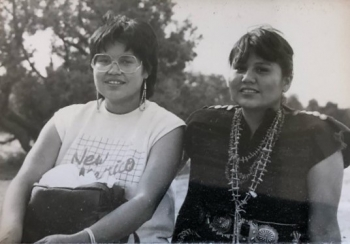 Bernadette Tsosie (left) and her sister, Bonita (right), grew up on the Navajo Nation.