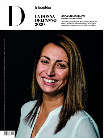 "On Dec. 10, the Italian magazine D La Repubblica named Anna Grassellino, scientist at the U.S. Department of Energy's Fermi National Accelerator Laboratory, as ""Woman of the Year."""