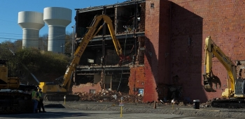 Only a month after completing DOE's largest environmental cleanup project at the East Tennessee Technology Park this year, workers started demolition on the Biology Complex at the Y-12 National Security Complex.