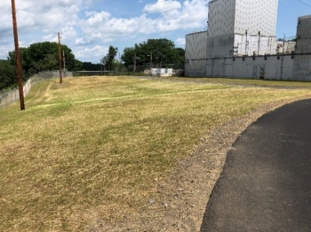A view of the restored site of the former Building H2 at the former Separations Process Research Unit.