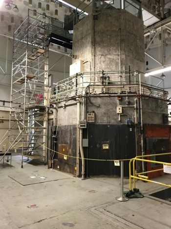 A view of the Livermore Pool Type Reactor, which was deactivated and decommissioned in 1981.