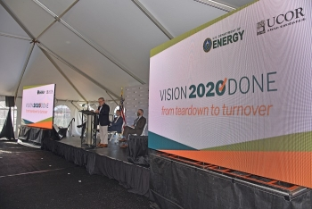 In October, Energy Secretary Dan Brouillette was joined by congressional, state, and local leaders to celebrate the completion of Vision 2020 at Oak Ridge. It marked the first time in the world an entire enrichment complex was removed.