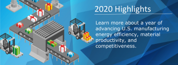 2020 highlights - Learn more about a year of advancing U.S. Manufacturing energy effiency, material productivity and competitiveness.
