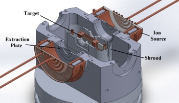 Schematic view of the interior of the High Flux Neutron Generator HFNG.