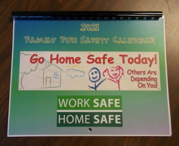 The Family Fun Safety Calendar features drawings created by the children of employees from the West Valley Demonstration Project.